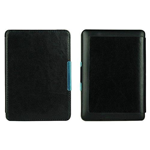 Beautyrain Schlanke PU-Leder Smart E-Buch-Kasten-Abdeckung Hand für Kindle Paperwhite 1/2/3 Schwarz (Kindle-buch-kasten-abdeckung)