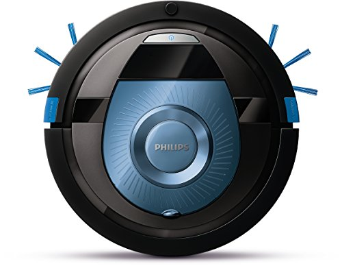 Philips SmartPro Compact Robot aspirador FC8774/01 - Aspiradoras robotizadas (Sin bolsa, Azul, Alrededor, 0,3 L, 58 dB, 1,8 cm)