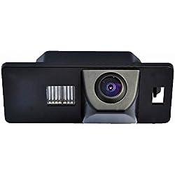 Dynavision Éclairage de la Plaque d'immatriculation HD CCD Caméra de Recul Voiture en Couleur Vue arrière Imperméable Vision Nocturne,Haute-résolution HD pour Audi A3 A4(B6/B7/B8) Q5 Q7 A8 S8