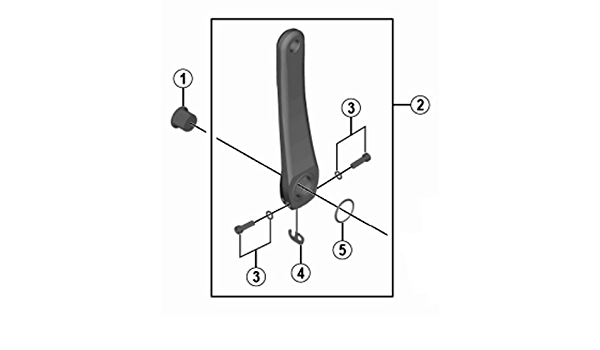 SHIMANO de Notebook suppl/émentaire Fce6000/Bras de manivelle Gauche 175/mm