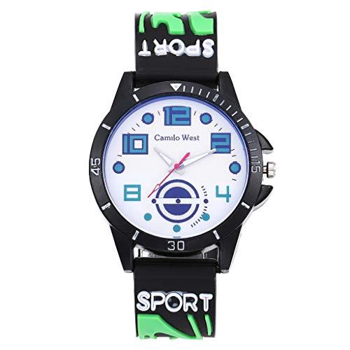 LABIUO Mode Silicagel Gurt Sportuhr Einfache Blaue Licht Glas Fall Uhr(D,Freie Größe)