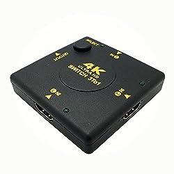 ULTRA HD HDMI Switch - 3 Port Umschalter | 3 x IN / 1 x OUT | Dolby True HD | intelligenter Switch - automatische und manuelle Umschaltung