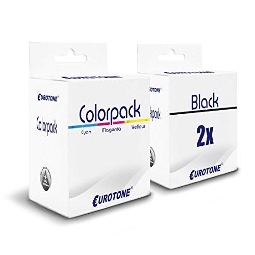 Canon Ersatz-kopierer Patrone (3x Eurotone Patronen für Canon I350 S210 I255 MP360S I250 BJ-S330 S300 MP130 I450X I455 IP1500 IP2000 I475 IP1000 MPC200 ersetzt BCI24BK BCI24C CMYK)
