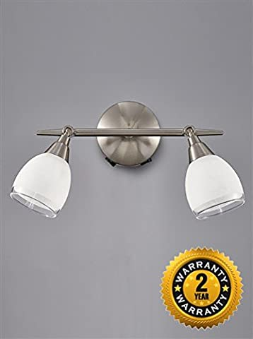 SPOT8972 Lutina double wall spot light, satin nickel and glass