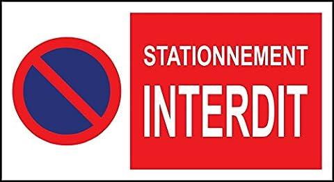 Panneau signalétique stationnement interdit - 300x200mm 1.2mm rigide