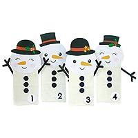 DIY Adventskalender Schneemänner - mit weißen Tüten - für Kinder - zum selber bastelen und zum Befüllen