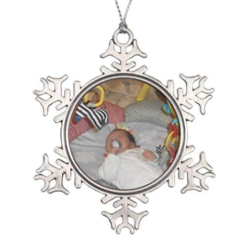 Vehfa Decorations Personalisiertes Ornament A Little Angel Schneeflocke Zinn Weihnachten Ornament