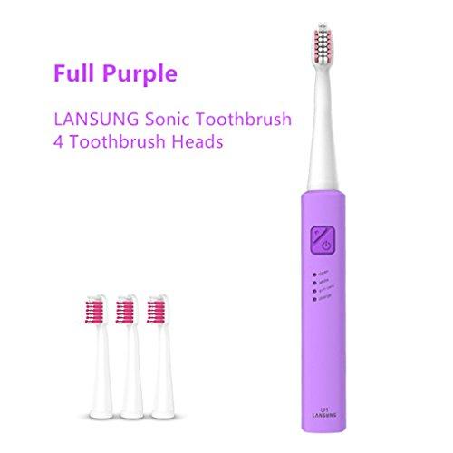 Masterein Wasserdicht Sonic automatische elektrische USB-Lade Zahnbürste nachladbare elektrische Zahnbürste für Erwachsene Kinder Gras