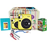 Fujifilm Instax Mini 70 Travel Box Combo Offer (Yellow Camera + Twin Film Pack + Marker + Scrap Book + Neck Strap + Masking Tape)