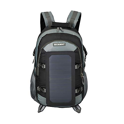 BAG 36L Rucksack 7W Solar Power Charger Rucksack mit Solar Panel Männer und Frauen Laptop 17 Zoll Laptop Rucksack Tasche,Gray -