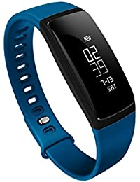 Blue : IGEMY Smart Bracelet Pedometer Wristband Bluetooth Watch Activity Fitness Tracker