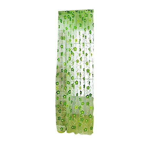 cortina-panel-de-gasa-floral-hoja-tul-drapeado-decoracion-ventana-habitacion-verde