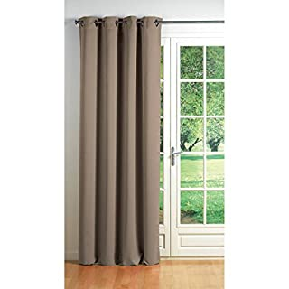 DOUCEUR D'INTERIEUR - 1600731, Cortina con Anillas, 140 X 260 Cm, Cocoon, Opaco Liso, Beige (B005ZEQLPO) | Amazon Products