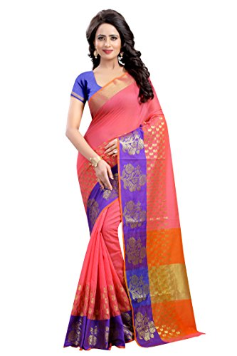 Vatsla Enterprise Women's Cotton silk Saree (VGULAB006PINK_PINK)
