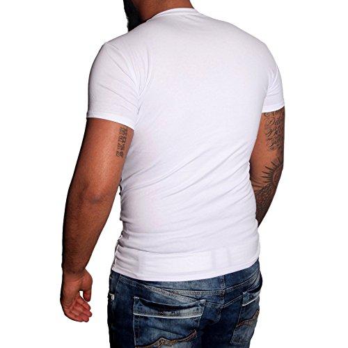 Subliminal Mode - T-shirt V-kragen Herren Bogen Mehrfarbig Mode Ck02 Polo Hemd Anthrazit
