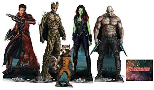 (Starstills UK) Fan Packs Guardians of The Galaxy Lifesize Pappaufsteller Komplettset bestehend aus 5 Kollektionen enthält 8 x 10 Star Photo