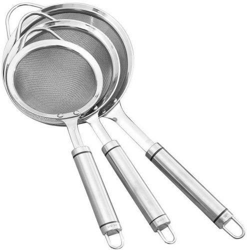 Lebensmittel Sieb Set–luckydiy feines Mesh Edelstahl Seiher Sieb Set Küchenhelfer, Sieb und...