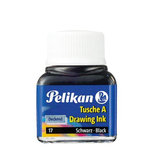 Pelikan 201665 - Tusche, 10ml Glas, schwarz