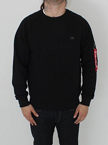 Alpha Industries Herren Sweatshirt schwarz XXL (Pullover Crewneck Baumwolle Hohe)