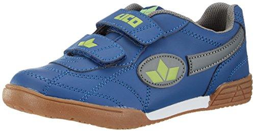 Lico Bernie V, Zapatillas Deportivas para Interior Unisex Niños, Azul (Marine/Grau/Lemon), 37 EU