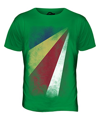 CandyMix Seychellen Verblichen Flagge Herren T Shirt Grün