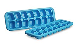 All Time Plastics Cool Ice Cube Tray Set, Set of 2, Blue