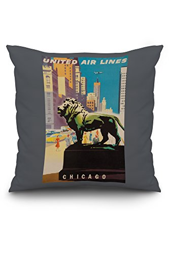 united-airlines-chicago-vintage-poster-artist-binder-usa-c-1948-20x20-spun-polyester-pillow-case-whi