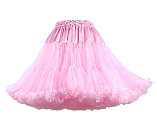 Honeystore Damen Mädchen Kinder Tanzen Ballett Tutu Rock Ballett Pettiskirt Prinzessin Tanz Röckchen Tutu Kostüme Rosa One Size (Einfach Kostüm Tutorial)