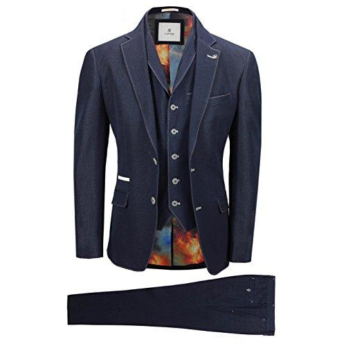54r-anzug (Cavani Herren Fabian 3-teiliger Anzug (Chest 50'' / Waist 44''))