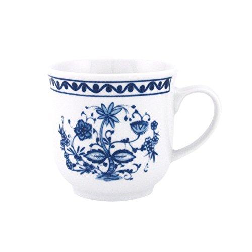 Triptis 1350380674882116 'Romantika Zwiebelmuster' Kaffeebecher, 300 ml, Porzellan, weiß/blau (4...
