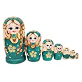 arthomer 7 STÜCKE Matroschka Russische Puppen Kreative Grüne Borten Verschachtelungs Puppen...