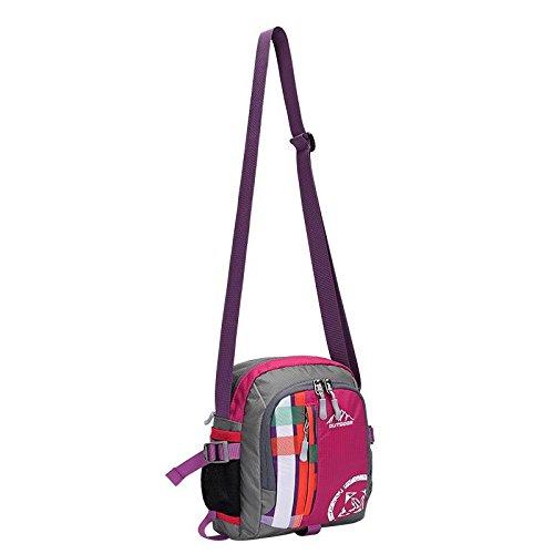 YYY-Tasche all'aperto sport all'aperto multi - funzionale borsa a tracolla uomini e donne viaggiano zaino spalla bag? , blue , 12 rose red
