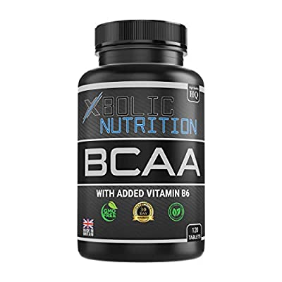 XBOLIC NUTRITION BCAAs + Vitamin B6-120 Tablets - Money Back Guarantee - Free Lifetime Support - 1200MG Per Serving - 100% Allergen Free - ISO9001 and GMP Certified Product by XBOLIC NUTRITION LTD