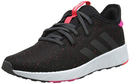 adidas Questar X BYD, Scarpe da Running Donna, Nero Core Black/Grey Six/Shock Pink, 37 1/3 EU
