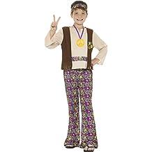 Hippie–Disfraz Años 60Años 70Groovy paz Childs Childrens Kids–Disfraz de hippie