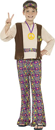 Hippie Boy's Fancy Dress Outfit in three sizes for 4 to 12 years