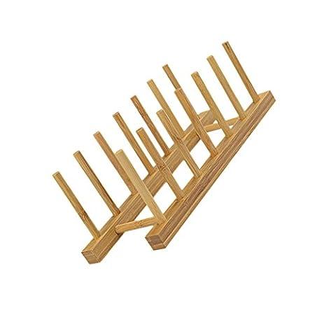 Égouttoir à Vaisselle en Bambou, à 6 Grilles-30x11.5x10.5cm