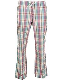 Citylife gewebte Pyjamahose - Schlafanzug - Hose Homewear für Damen türkis weiss rosa S M L XL XXL