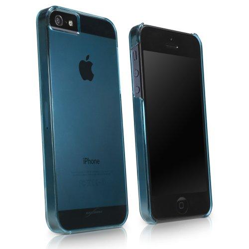 BoxWave Étui iPhone 5S/5Coque Cristal-Coque fine ultra léger en polycarbonate transparent Transparent Coque rigide pour iPhone 5S/5C/5/5-Apple iPhone 5/5S/5C et coques (Bleu)