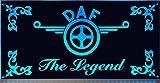 DAF LED-Leuchtschild 30x15cm ✓ Ideale Geschenkidee ✓ LED-Beleuchtung ✓ Lasergraviert | Edles LED-Schild als Truck-Accessoire | Beleuchtetes DAF Logo-Schild für den 24Volt-Anschluss | Ideales LKW-Zubehör für Trucker in verschiedenen Farben