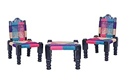A&E High Quality Wooden back-foldable Chair & Khatli/Bajot set