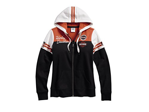 Harley Davidson Women's Classic Colorblock Damen Hoodie, 99125-17VW, L-Lady - Hoodie Harley Davidson