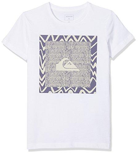 Quiksilver EQBZT03682 T-Shirt Garçon, Bright White, FR : S (Taille Fabricant : 10)