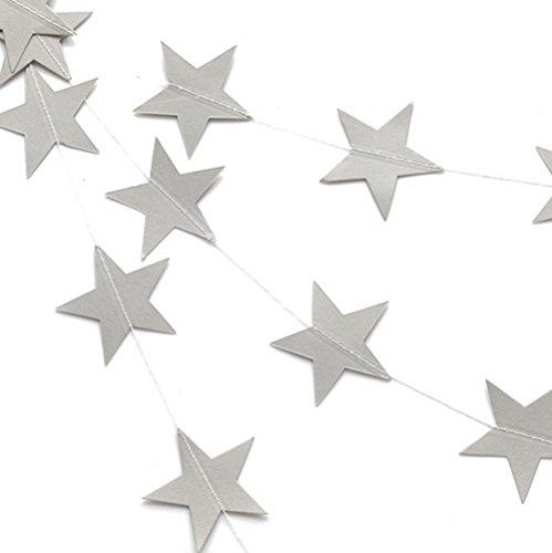 Coaster Estrella cortina 4m weihnachtlicher Navidad decoración pared joyas de puertas y ventanas decoración cortina techo verzierung Deko cartón Estrella c 4m