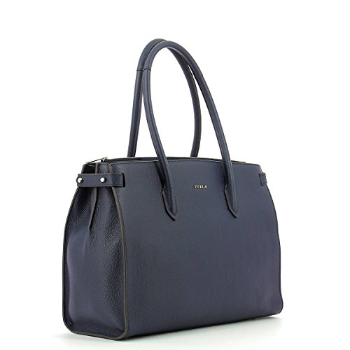 Furla Pin shopping bag medium blue NAVY BLUE