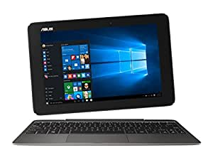 Asus Transformer Book T100HA-FU006T Display da 10 Pollici con TouchScreen Glare, Processore Intel Atom Quad Core Z8500, RAM 2 GB, eMMC 64 GB, Grigio/Antracite