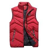 Herren Weste Bodywarmer Steppweste Funktionsweste Outdoor Freizeit Sport Style Mit Stehkragen (Rot,XXXXL)