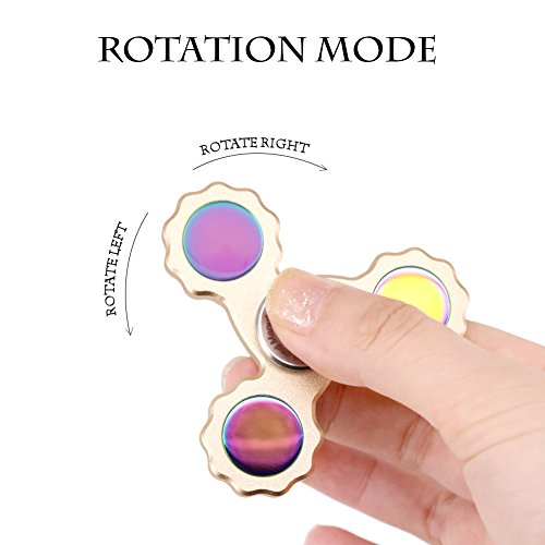 Waitiee Fidget main Spinner Toy – haute vitesse inox roulements – parfait pour tuer le temps augmentant Focus, Concentration. Temps de Spin 2 à 5 Min (golden) - 6