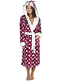 15301a9cf8 KATE MORGAN Ladies Soft   Cosy Hooded Dressing Gown
