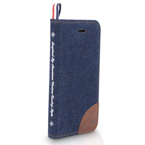 Motif Kajsa Multi-Angle Denim Cover Protector Case pour iPhone 5S noir